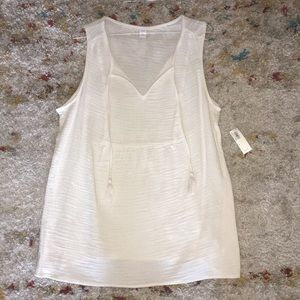 Old Navy cream short sleeve top *NWT*